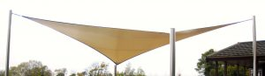 Tensile sunsail, tensile structure by Alfresco365