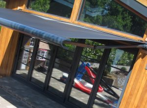 Garden shade produced by markilux 990 electric remote control retractable awning