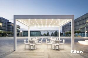 Louvered roof aluminium pergola by Gibus